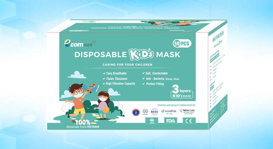 khẩu trang tre em Ecom Med Kid's Mask